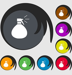 Plastic spray of water icon sign symbols on eight vector