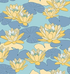 patternflowers vector image