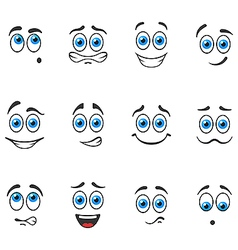 Smiles with blue eyes vector
