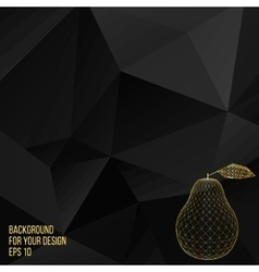 Gold pear  abstract creative vector