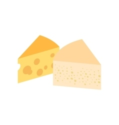 French cheese isometric 3d icon vector