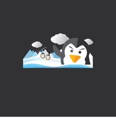 Cute penguin portrait vector