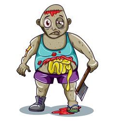 A fat zombie vector image vector image
