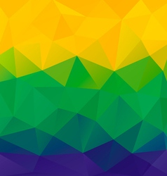Abstract background with brazil flag vector