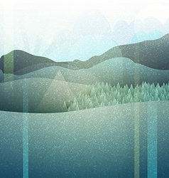 Abstract retro landscape with texture Mountain vector image vector image
