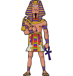 Ancient egyptian pharaoh vector