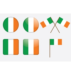 badges with flag of Ireland vector image vector image