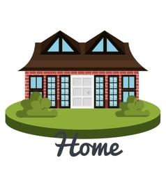 beautiful home design vector image