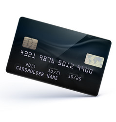 Black credit card vector