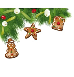 Christmas border fir vector image vector image
