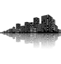 City Skyline Night scenes vector image