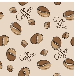 coffee beans seamless pattern - vector image vector image