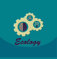 ecology problem concept in flat stile icons set vector image vector image
