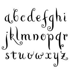 fairytale hand drawn alphabet vector image