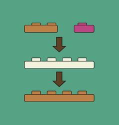 Flat icon design collection lego constructor vector