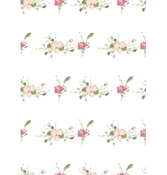 Floral carnation retro vintage background vector image vector image