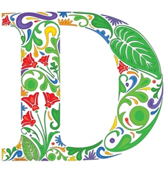 Floral D vector image