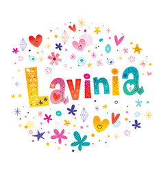 Lavinia girls name vector