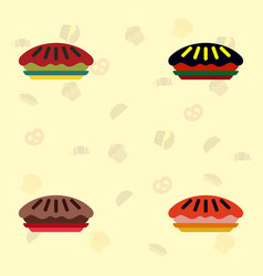 Pie collection icons vector