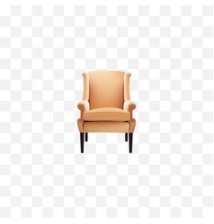 realistic chair element of vector image