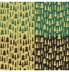 Seamless pattern with hand drawn pine fir branches vector image vector image