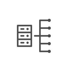 server line icon vector image
