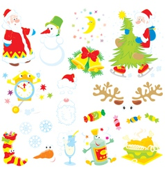 Set of christmas clip-arts vector