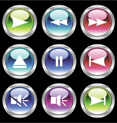 set of glossy buttons vector image vector image