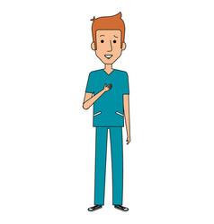 surgeon professional man of health vector image