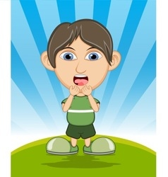 The boy surprised cartoon vector image