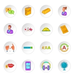 Translator icons set vector
