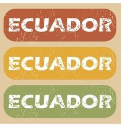 Vintage ecuador stamp set vector