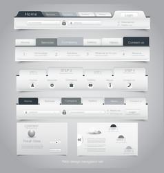 Web site navigation menu pack 24 vector image vector image