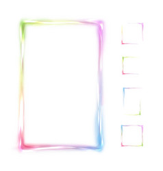Rainbow frame isolated on white background vector