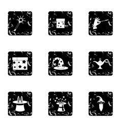 Witchcraft icons set grunge style vector