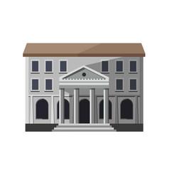 Gray bank building exterior vector