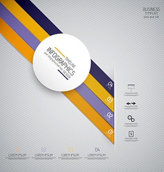 design infographics 4 vector image