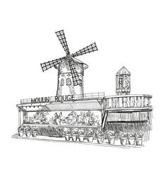Moulin rouge in paris vector