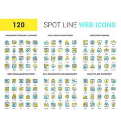 Spot line web icons vector
