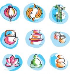 Zen logos vector
