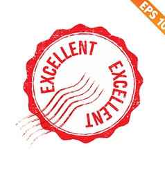 Rubber stamp excellent - - eps10 vector