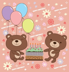 Birthday bear vector image
