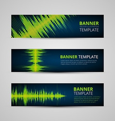 Music banners set vector