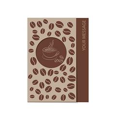 coffee card 1501 02 vector image