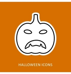 Halloween pumpkins icon vector