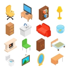 Furniture for living room isometric vector