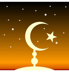 Symbol of islam at night vector