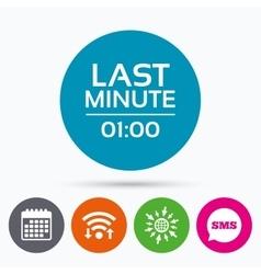 Last minute icon hot travel symbol vector