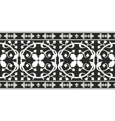 Black-and-white gothic floral pattern vector
