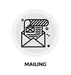 Mailing icon flat vector